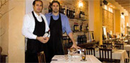 Andrea Dallamora (a destra) con il fratello